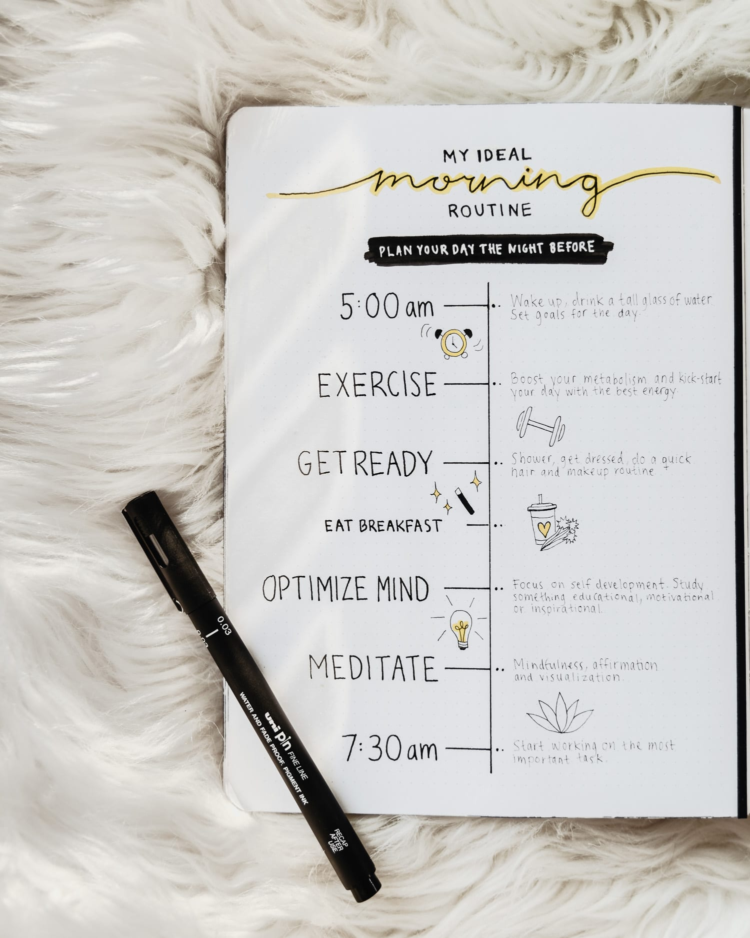Bullet Journal - My Ideal Morning Routine | Collection Idea