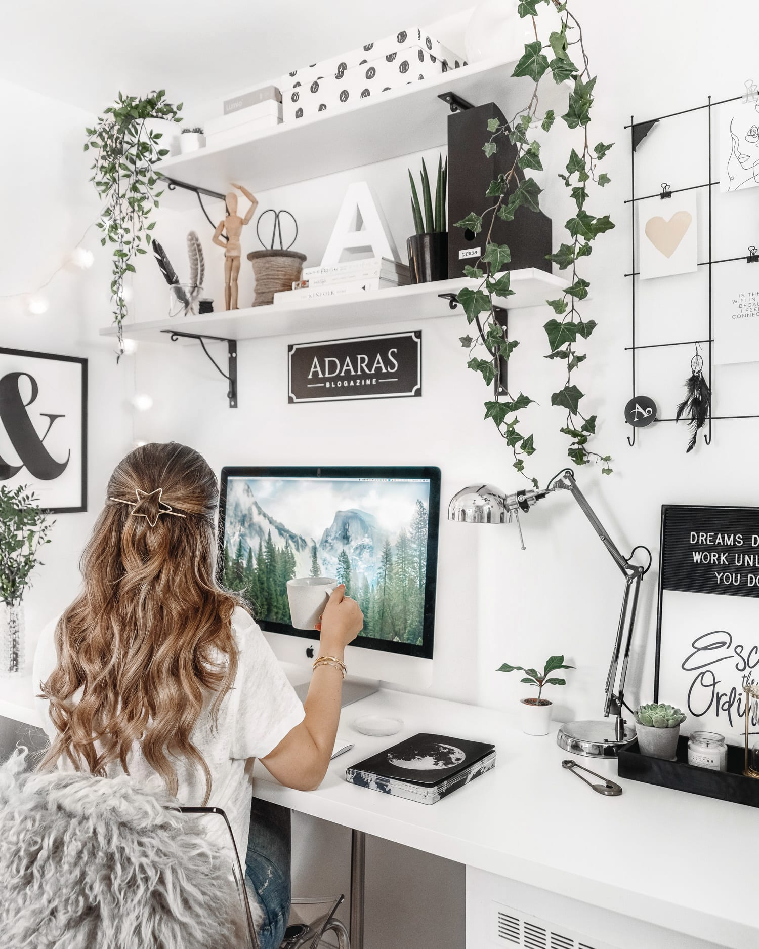 Scandinavian Home Office Design | Working from Home Inspiration