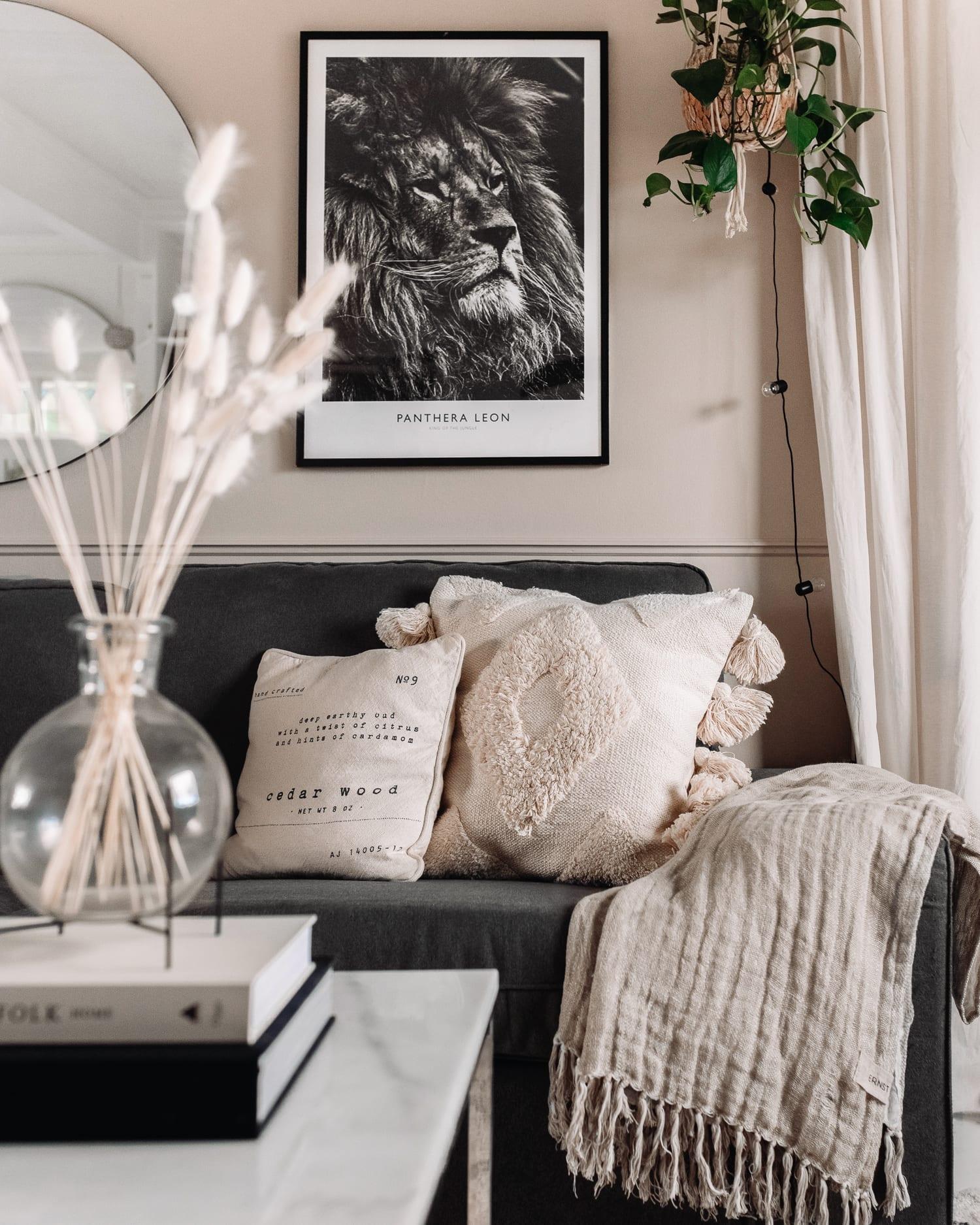 Scandinavian Beige Livingroom Ideas