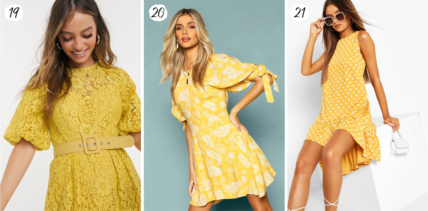 Yellow mini dresses fro 2020