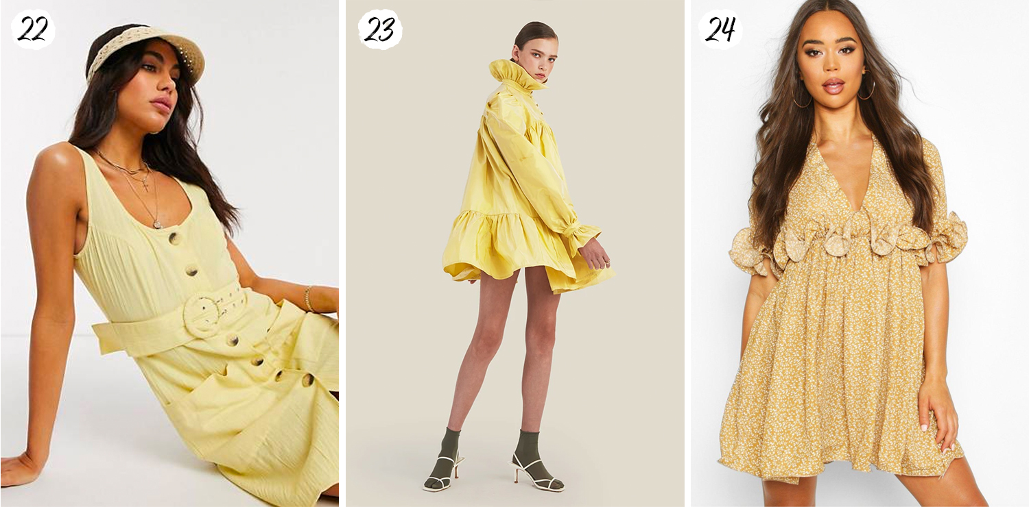 Mini yellow dresses for summer 2020