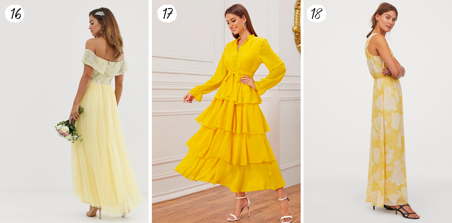 Yellow Maxi Dresses for Summer 2020