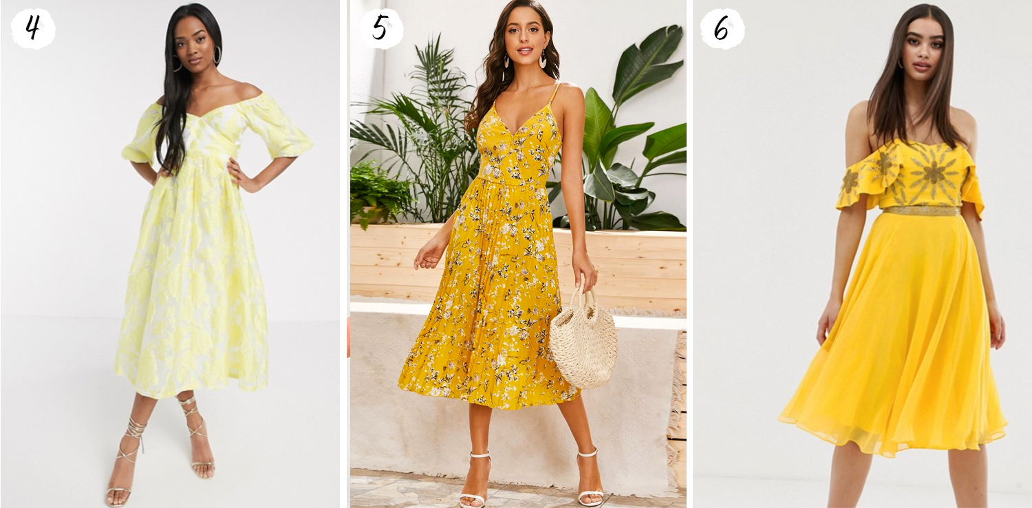 Yellow Midi Dresses for 2020