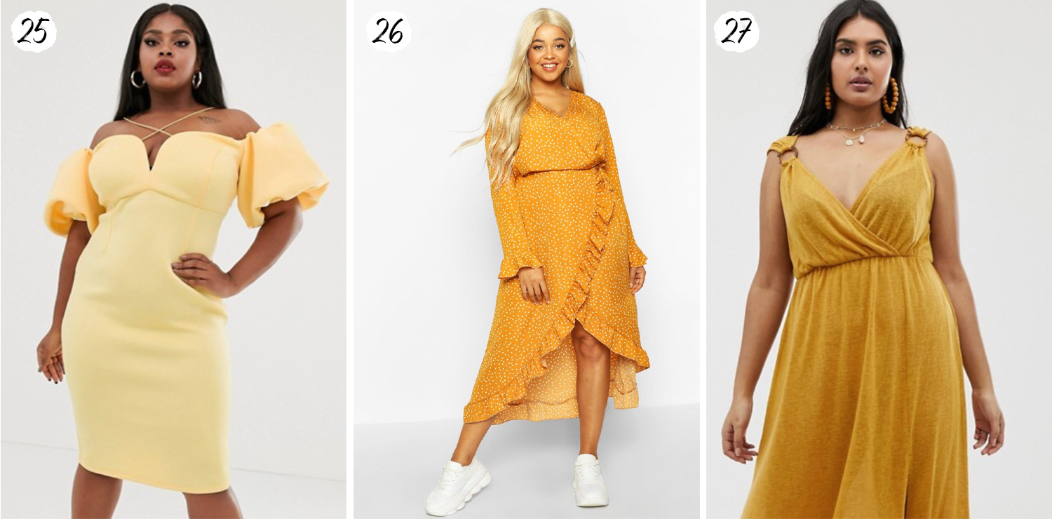 Yellow Plus Size Dresses for Spring/Summer 2020