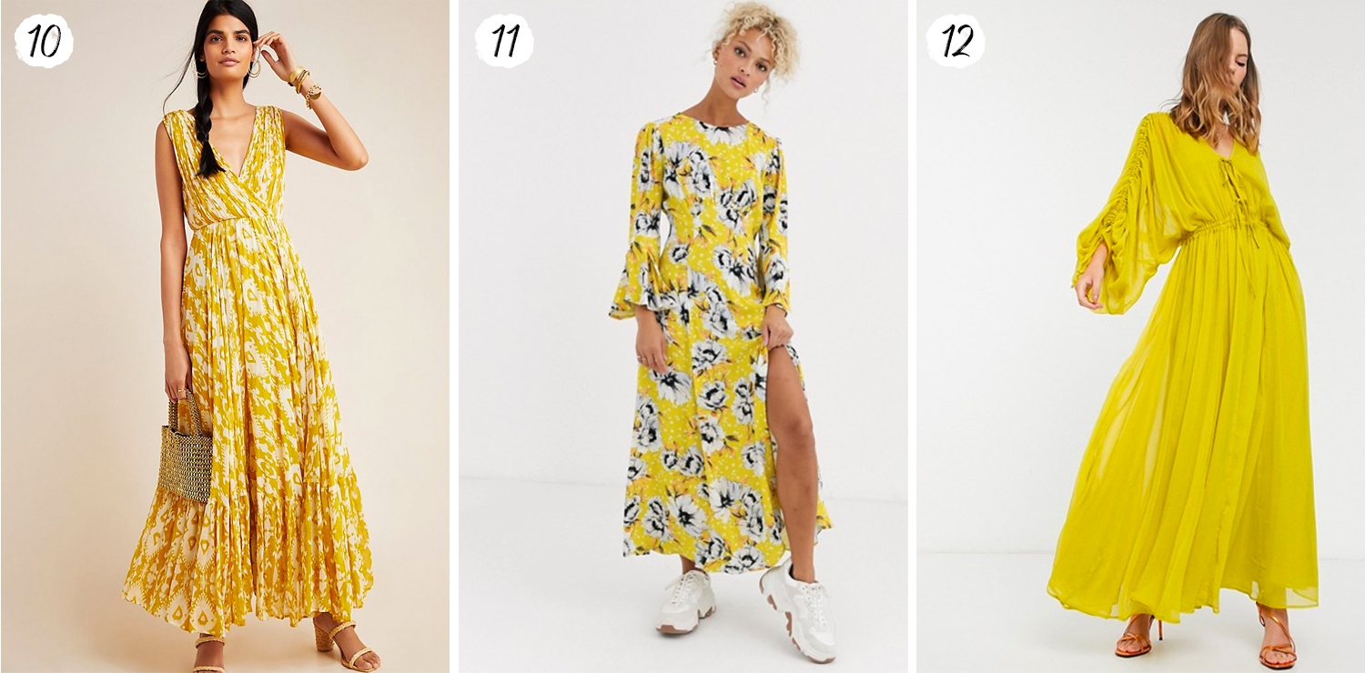 Yellow Maxi Dresses