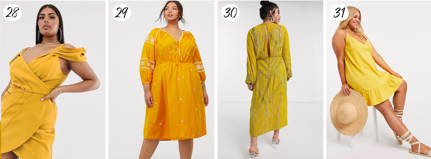 Yellow Plus Size Dresses for Summer 2020