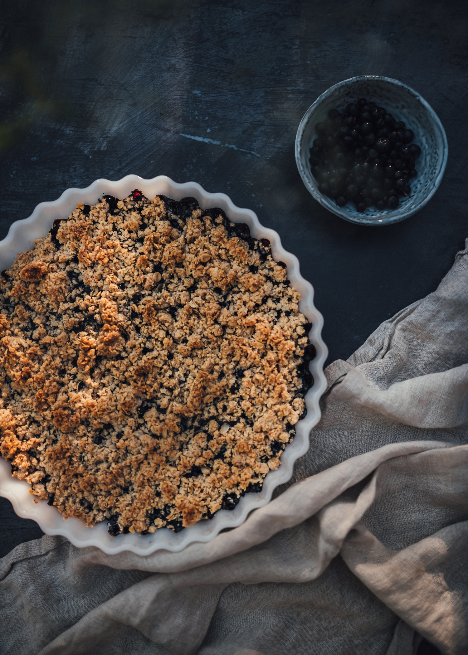 Vegan Blueberry Crumble Pie Recipe