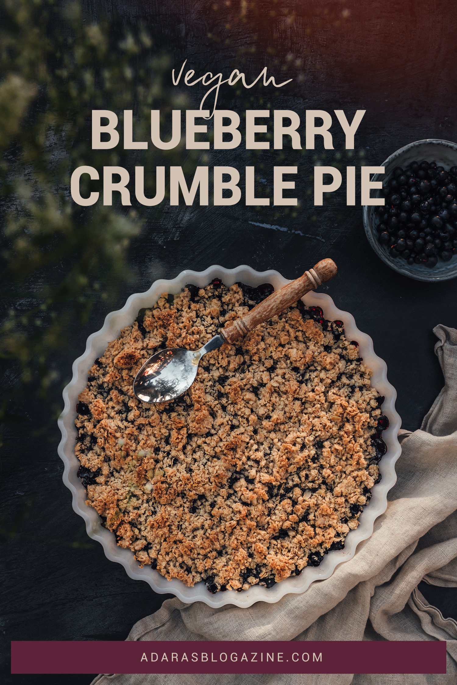 Recipe: Vegan Blueberry Crumble Pie